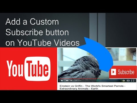 How to Add a Custom Subscribe button on You tube Videos-2017-Easy way