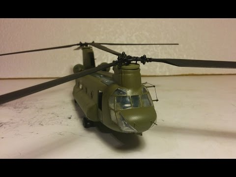 Chinook Helicopter build 1/72 Pt3 Matchbox, Completion