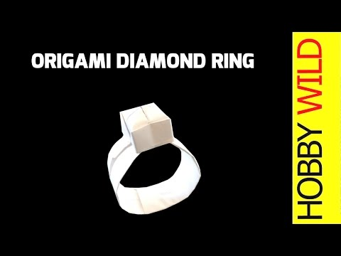 How To Make A Paper Diamond Ring (Origami)