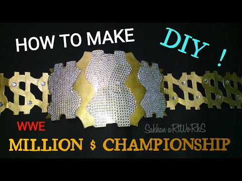 How To Make The WWE Million Dollar Championship Belt | Homemade | Tutorial | Diy !