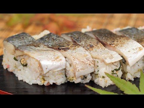 Pressed Sushi with Seared Marinated Mackerel Recipe (Shime Saba Oshizushi) | Cooking with Dog