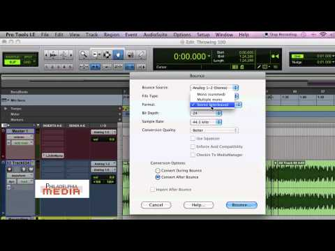 Pro Tools Production Tip - (Settings for Bouncing a Mix)