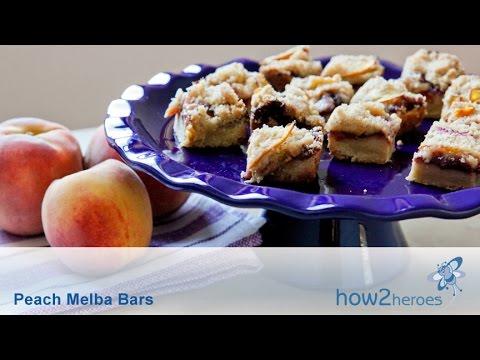 Peach Melba Bars