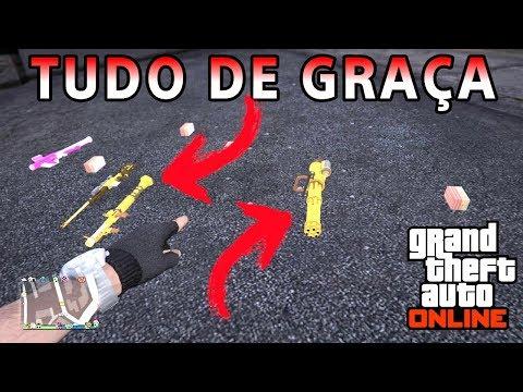 CAPTURA BUGADA, ARMAS E MUNIÇÃO DE GRAÇA NO GTA 5 ONLINE