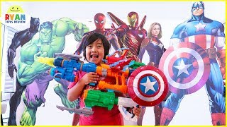 Download Marvel Avengers Endgame Superhero Nerf Toys Hide and Seek Video