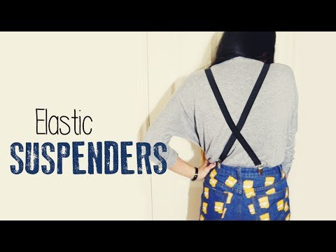 DIY ✂ Elastic Suspenders/Braces (Easy)