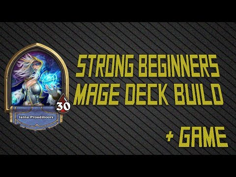 Hearthstone: Beginner/Basic Mage Deck Build and Game