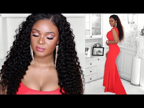 VALENTINE'S DAY 3-IN-1-GRWM!!! MAKEUP, HAIR & OUTFIT | OMABELLETV