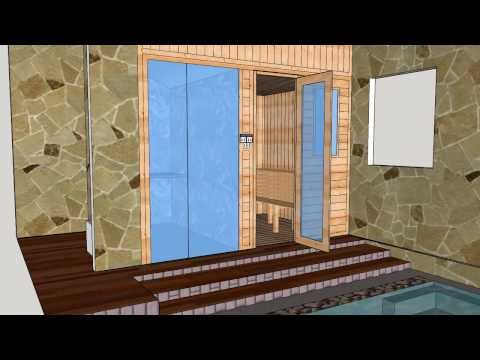 sauna room, steambath room, sauna design