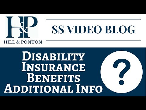 SSDI Benefits - Additional Info