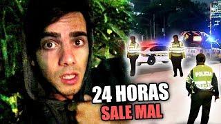 24 HORAS EN UN BOSQUE SALE MAL **nos agarra la policía**