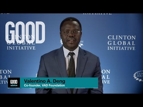 GOOD Advice from Valentino A. Deng