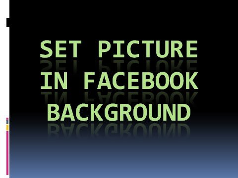 how to set picture in facebook background