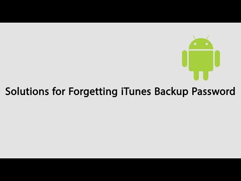 What to do if you forget iTunes Backup Password