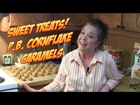 Make Delicious Peanut Butter Cornflake Caramel Treats! Easy No Bake Recipe!