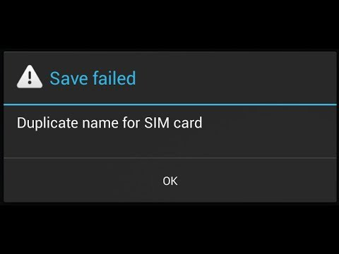 Duplicate name for SIM card FIX