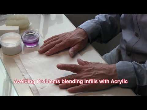 Avoiding problems when blending in acrylic on Infills, Acrylic Nails