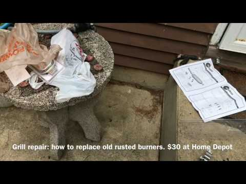 Grill repair: Rust busted burners
