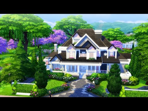 THE SIMS 4 PRETTY SUBURBAN HOME | Speed Build