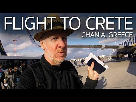 Flight to Crete Greece