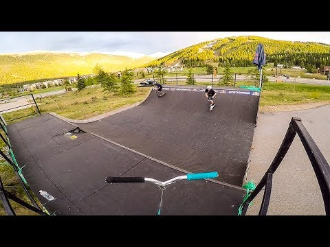RED BULL MINI RAMP ON SCOOTER!