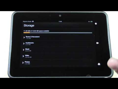 Kindle Fire HD   How to Check Your Available Storage | H2TechVideos