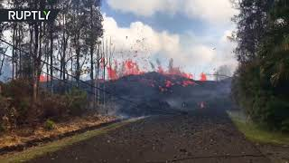 Volcano continues to spew lava on Hawaii