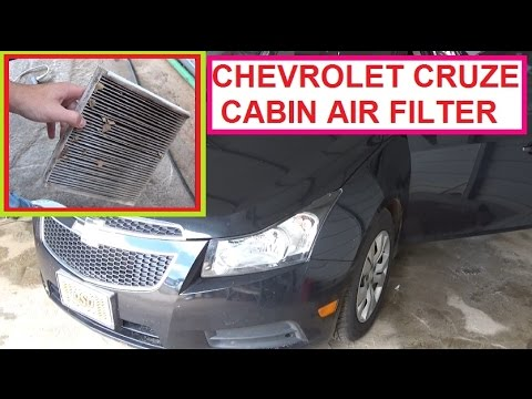 Chevrolet Cruze Cabin Air Filter Pollen Removal and Replacement  2010 2011 2012 2013 2014 2015