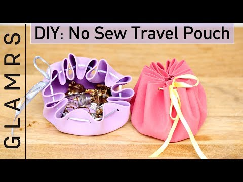 DIY No Sew Pouch - Easy and Creative | Pouch To Keep Jewellery, Coins, Earphones, etc.