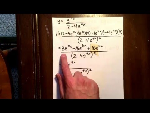 3 derivative using quotient rule involving an exponential function