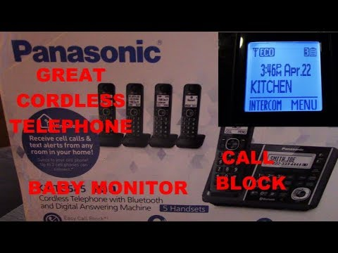 BEST Panasonic CORDLESS Telephone - 5 Handsets