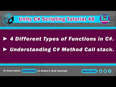 C# Unity 48 - Types of methods or functions and flow of execution