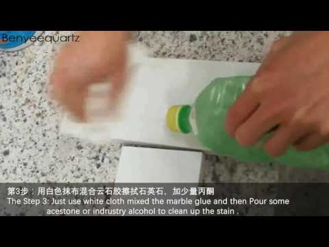 How to thoroughly remove stains from quartz surface