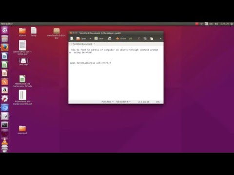 how to find  ip adress of computer using terminal on ubuntu