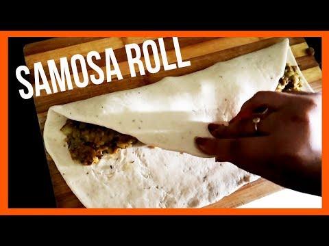 SAMOSA ROLL!??  #KomalCooks