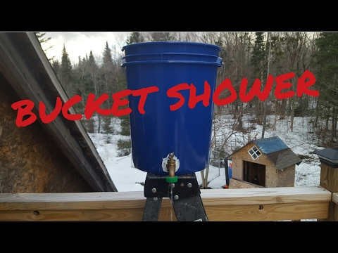 How to make a camping shower. Off-grid shower.