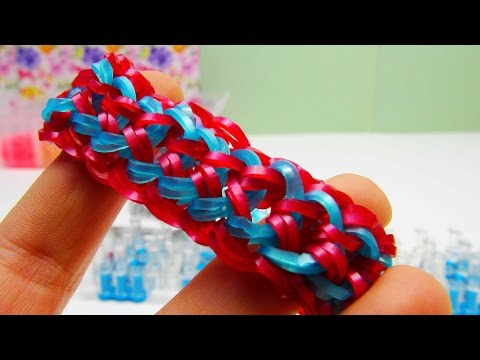 Dragon Scale Doppelt Loom Bands Armband / Dragon Scale Bracelet / Mit loom Anleitung