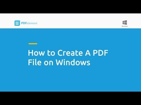 How to Create a PDF File on Windows