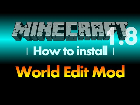 How to install World Edit Mod 1.8 (world edit in single player) for Minecraft 1.8