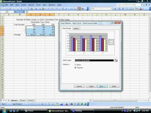 Making Tables and Graphs in Excel 2003