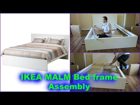 IKEA MALM double bed frame assembly