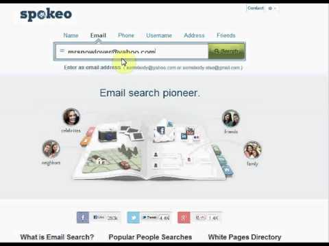 SPOKEO SEARCH BY EMAIL | live video of Spokeo people search by email