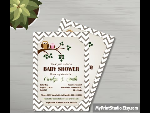 Baby Shower Invitation For MS Word