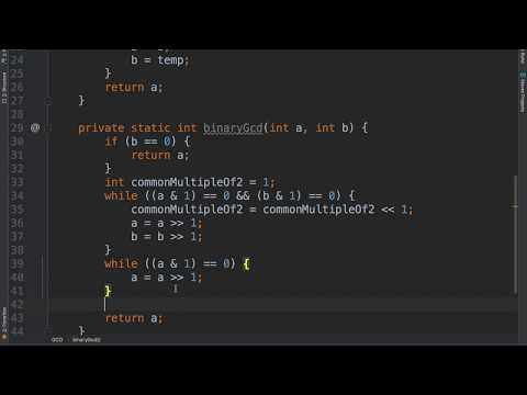 Euclid's Algorithm for GCD - Java Code
