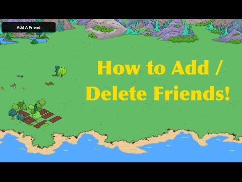 The Simpsons Tapped Out: How To Add/ Delete Friends