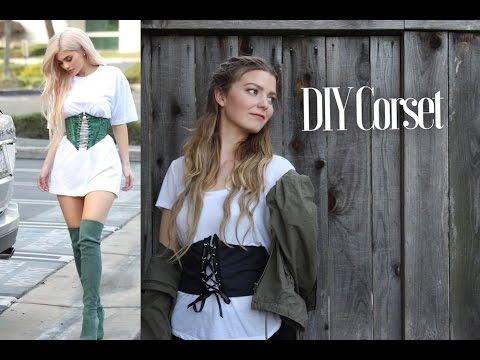 DIY Corset/T-Shirt Belt- EASY sewing project!    Katie Fredrickson