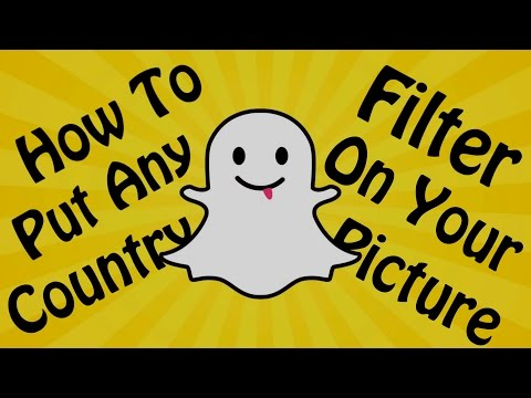 Snapchat - How Put To Any Country Filter On Your Pictures On ANDROID