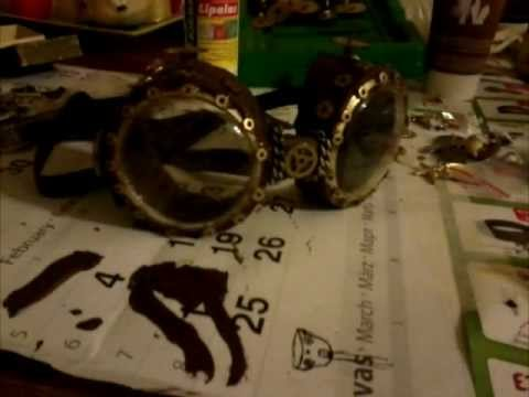 how to make steampunk goggles