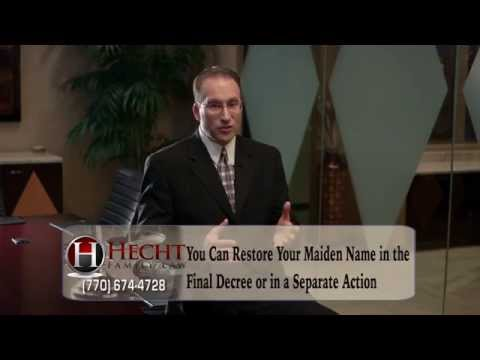 Divorce Lawyers Roswell GA-Sandy Springs Divorce Lawyers-Restoring Your Maiden Name