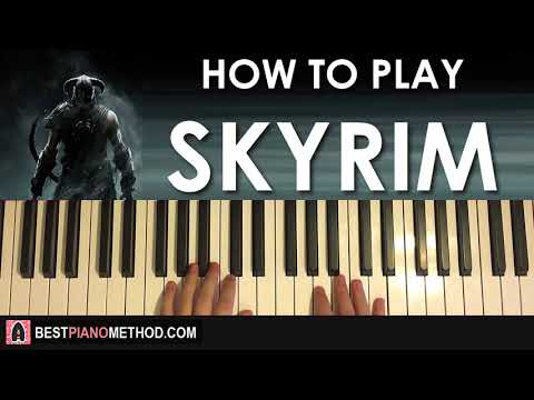 HOW TO PLAY - Skyrim: The Song of the Dragonborn (Piano Tutorial Lesson)